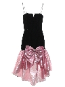 Womens/Girls Totally 80s Asymmetrical Velvet Prom Or Cocktail Dress