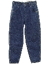 Womens Totally 80s Loose Fit Tapered Leg Denim Jeans Pants