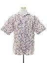 Mens Geometric Print Western Shirt
