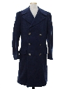 Mens Wool Air Force Military Overcoat Jacket