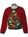 Womens or Girls Multicolor Lightup Ugly Christmas Sweater