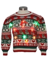Womens or Girls Vintage Multicolor Lightup Ugly Christmas Sweater