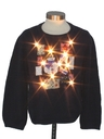 Unisex Ladies or Boys Multicolor Lightup Patriotic Ugly Christmas Sweater