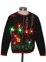 Unisex Ladies or Boys Multicolor Lightup Ugly Christmas Sweater