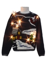 Unisex Ladies or Boys WHite Lightup Ugly Christmas Sweater