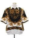 Mens Totally 80s Resort Wear Style Print Shirt
