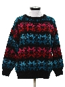 Womens Totally 80s Vintage Snowflake Ski Sweater