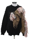 Unisex Totally 80s Hand Painted Designer Sweater