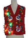Unisex Ladies or Boys Multicolor Lightup Ugly Christmas Sweater Vest
