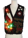 Womens Designer Multicolor Lightup Ugly Christmas Sweater Vest