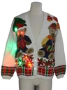 Unisex Multicolor Lightup Bear-riffic Ugly Christmas Cardigan Sweater