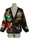 Unisex Multicolor Lightup Ugly 12 Days of Christmas Cardigan Sweater