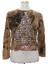 Womens Hand Tie-Dyed Ugly Christmas Sweater