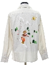 Womens Embroidered Hippie Ski Shirt