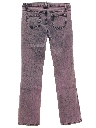 Womens Boot Cut Flared Leg Denim Over Dyed Jeans Pants