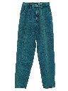 Womens Totally 80s Over Dyed Tapered Leg Denim Jeans Pants