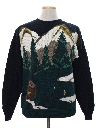 Mens Intarsia Knit Sweater