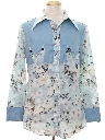 Mens Print Western Rodeo Shirt