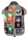Womens/Girls Multicolor Lightup Ugly Christmas Sweater Vest