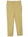 Mens Flat Front Mod Slacks Pants