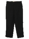 Mens Mod Flat Front Wool Slacks Pants