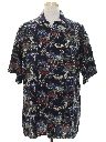 Mens Totally 80s Hawaiian Style Rayon Shirt