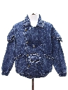 Mens/Boys Totally 80s Acid Washed Denim Jacket