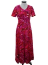 Womens Hawaiian Style Maxi Dress