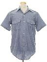 Mens Safari Style Chambray Shirt