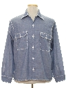 Mens Chambray Hippie Sport Shirt