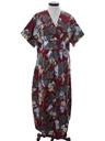 Womens Kimono Style Hawaiian Maxi Dress