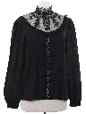 Womens Goth Victorian Style Shirt