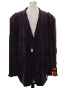Mens Totally 80s Velveteen Blazer Sport Coat Jacket