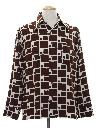 Mens Mod Print Disco Shirt