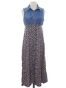 Womens Totally 80s Denim Maxi Dress