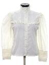 Womens Victorian Style Lace Prairie Shirt