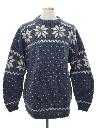 Mens Alpaca Wool Snowflake Ski Sweater