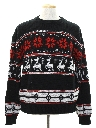 Mens Totally 80s Snowflake and Reindeer Ski Sweater
