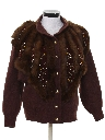 Womens Totally 80s Faux Fur Sweater Jacket