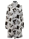 Womens Mod Op-Art Print  Shift Dress
