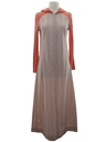 Womens Knit Hippie Maxi Dress