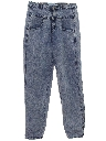 Womens Totally 80s Acid Washed Jeans Denim Pants