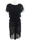 Womens Little Black Disco Dress