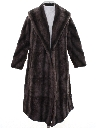 Womens Faux Fur Duster Coat Jacket