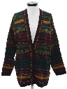 Womens Totally 80s Style Oversized Cardigan Sweater