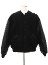 Mens Wool and Leather Baseball Jacket