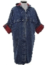 Womens Totally 80s Denim Overcoat Jacket