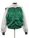 Womens Satin Baseball Jacket