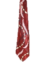Mens Wide Abstract Geometric Swing Necktie