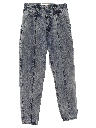 Womens Totally 80s Designer Acid Wash Jeans Pants